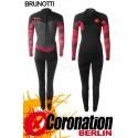 Brunotti Defence 5/3 Backzip femme combinaison neoprène Wetsuit Black/Coral