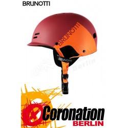 Brunotti Bravery Helmet Hardshell Helm Red Orange