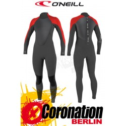 O'Neill Rental 4/3 GBS Frauen Neoprenanzug Black Red