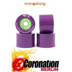 Orangatang Kegel Wheels 83a 80mm Set purple - Longboard Rollen