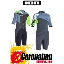 ION Strike Shorty SS 2,5 DL Neoprenanzug grey/lime 2014