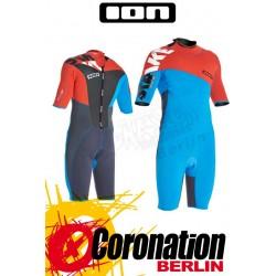 ION Strike Shorty SS 2,5 DL Neoprenanzug blue/orange