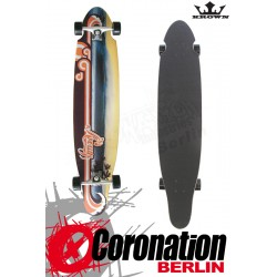 Krown Longboard Komplett Wave Sunset Kicktail Cruiser 41,5""