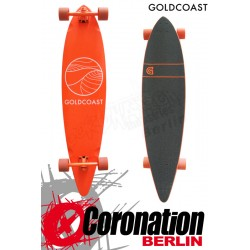 GoldCoast Classic Orange Longboard Pintail Cruiser