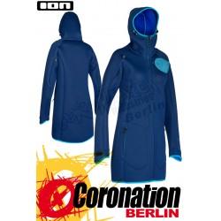 ION Neo Cosy Coat Blue - Frauen Neoprenjacke Neo Jacket