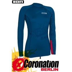 ION Rashguard Women LS Steelblue/Wine