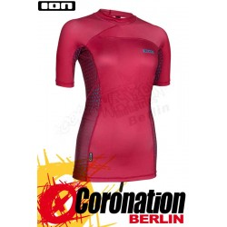 ION Rashguard Women SS Frauen Red