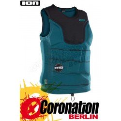 ION Collision Vest Amp 2018 Prallschutz Weste NZ Black/Seaweed