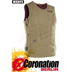 ION Collision Vest 2018 Prallschutz Weste SZ Khaki/Dark Berry