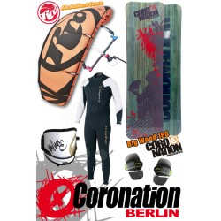 Kitesurf Set Leichtwind RRD Addiction 13qm + Coronation Big Wood