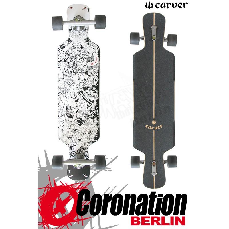 "Carver Chopsicle 38"" Longboard Freeride Downhill complèteboard"