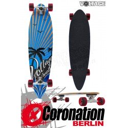 Voltage Longboard Pintail Cruiser - Palm Trees