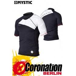 Mystic Crossfire Rash Vest S/S Black Wetshirt