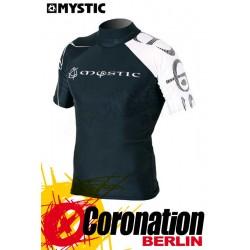 Mystic Crossfire Rash Vest S/S Black/White Wetshirt