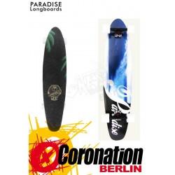 Paradise Wave Fade Kicktail Longboard komplett