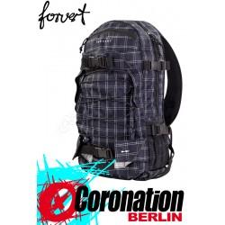 Forvert New Louis Skate Backpack Schul & Street Rucksack black white checked