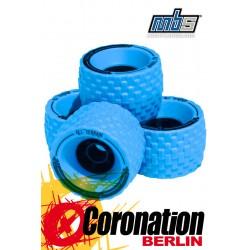MBS All Terrain Longboard Wheels 4er Set Blue