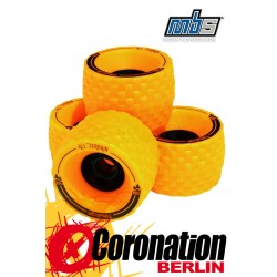 MBS All Terrain Longboard Wheels 4er Set Blue