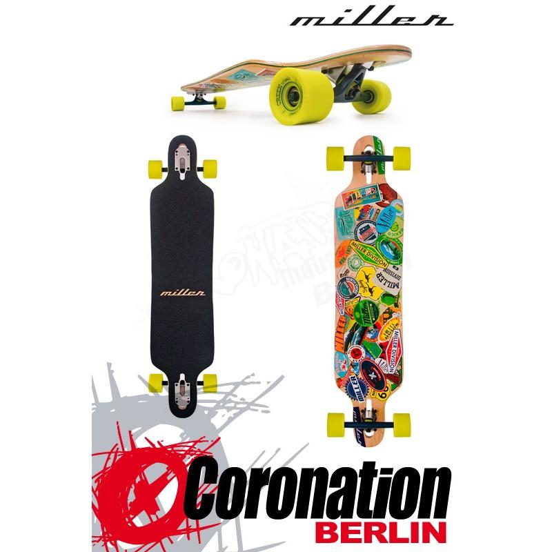 "Miller Travel Stickers 41"" Freestyle Longboard"