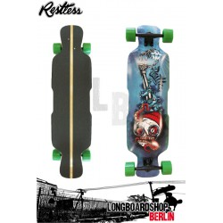 "Restless Deck Fishbowl 39"" Downhill Freeride Longboard"