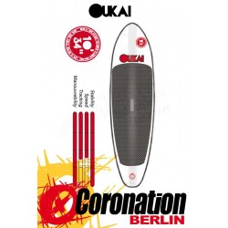 OUKAI inflatable SUP 10'x34'' Allround Stand Up Paddle Board Blackline
