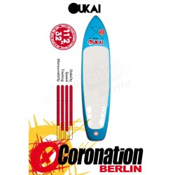 OUKAI inflatable SUP 10'6 x 33'' Freeride Stand Up Paddle Board Blue
