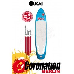 OUKAI inflatable SUP 11'2 x 32'' Touring Stand Up Paddle Board Blue