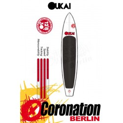 "OUKAI inflatable SUP 12'6 x 30"" Touring Stand Up Paddle Board Blackline"
