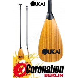 OUKAI SUP Paddle 50 Carbon Wood 3-teilig