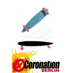 Moose Longboard Pintail Light Blue completeboard