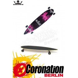 "Krown Longboard ""Purple Flame"" Pintail Deck Natur 9"" x 43"""