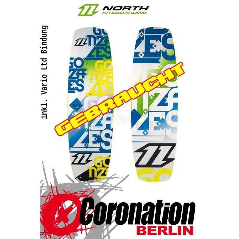 North Gonzales 2013 Kiteboard 142cm occasion avec Vario Ltd.