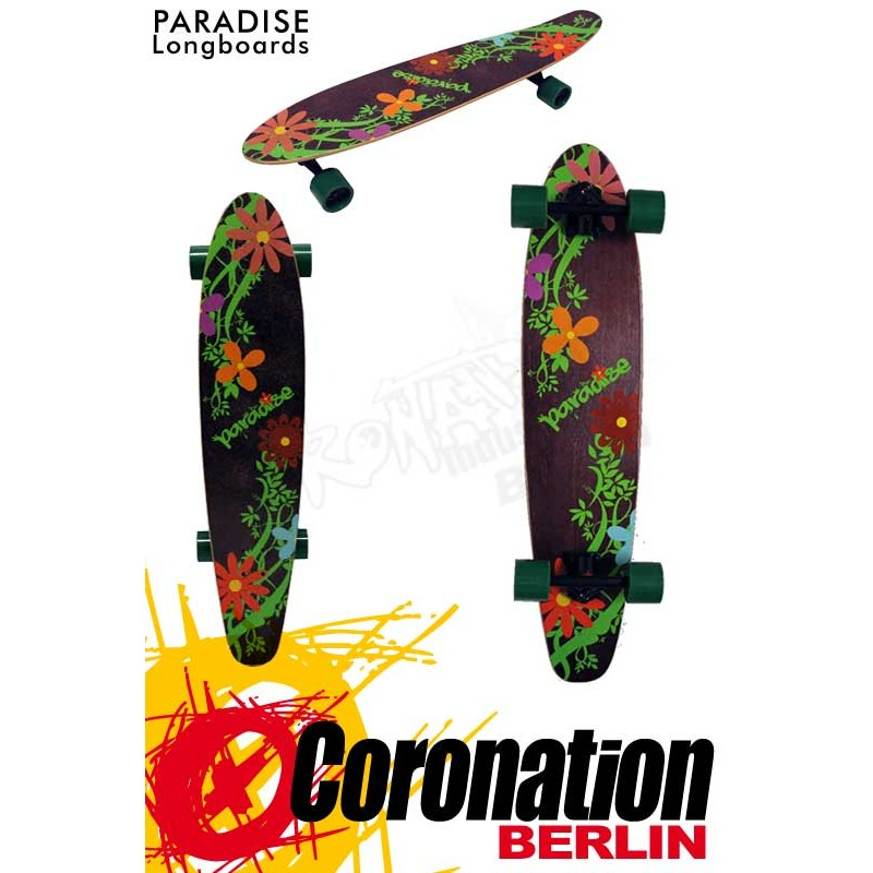 Paradise Flowers Kicktail complète Longboard