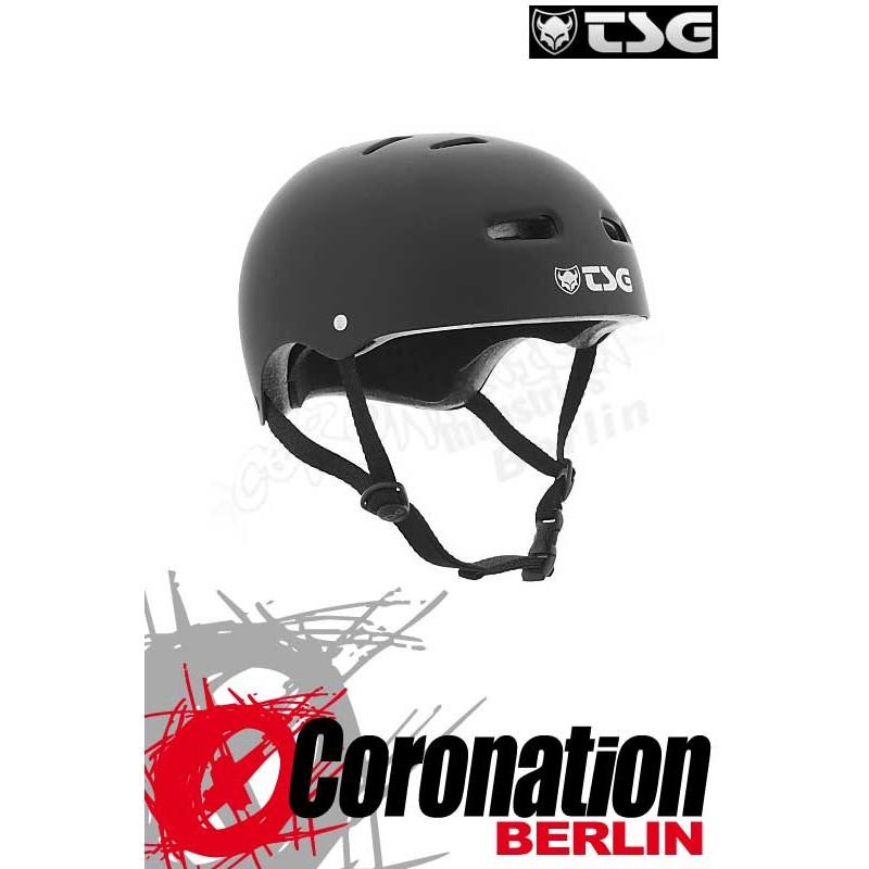 TSG Helm Evolution Solid Colors Flat Black