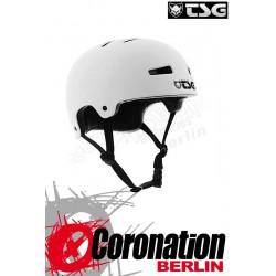 TSG Helm Evolution Solid Colors Flat White