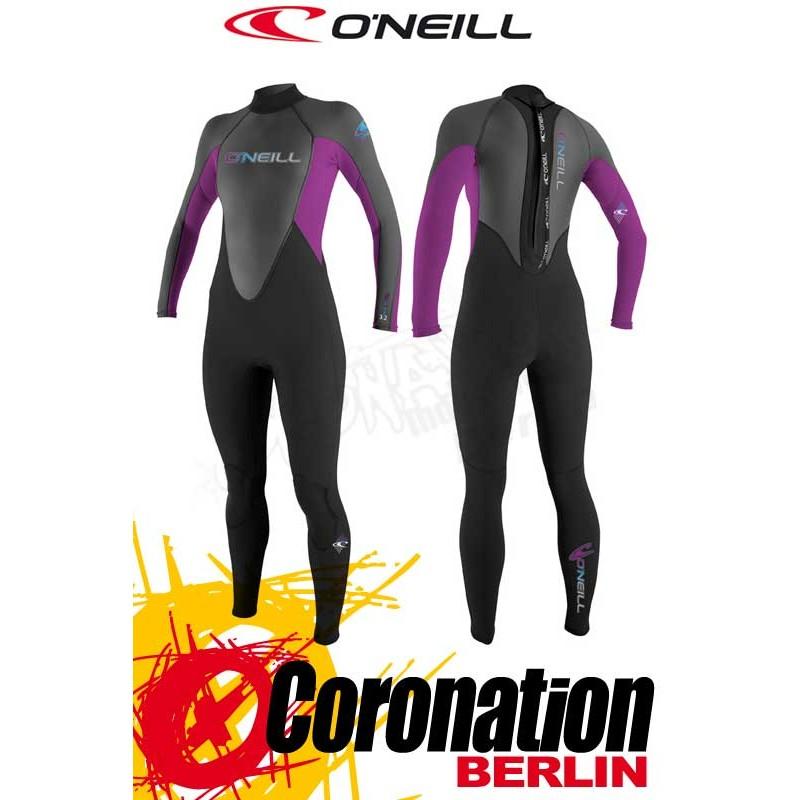 O'Neill Reactor 3/2 mm Full femme combinaison neoprène Black/Graph/Iris