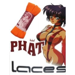 Phat Laces XXL Fat Schnürsenkel Orange für Vans DC