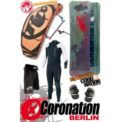 Kitesurf Set vent léger RRD Addiction 11qm + Coronation Big Wood