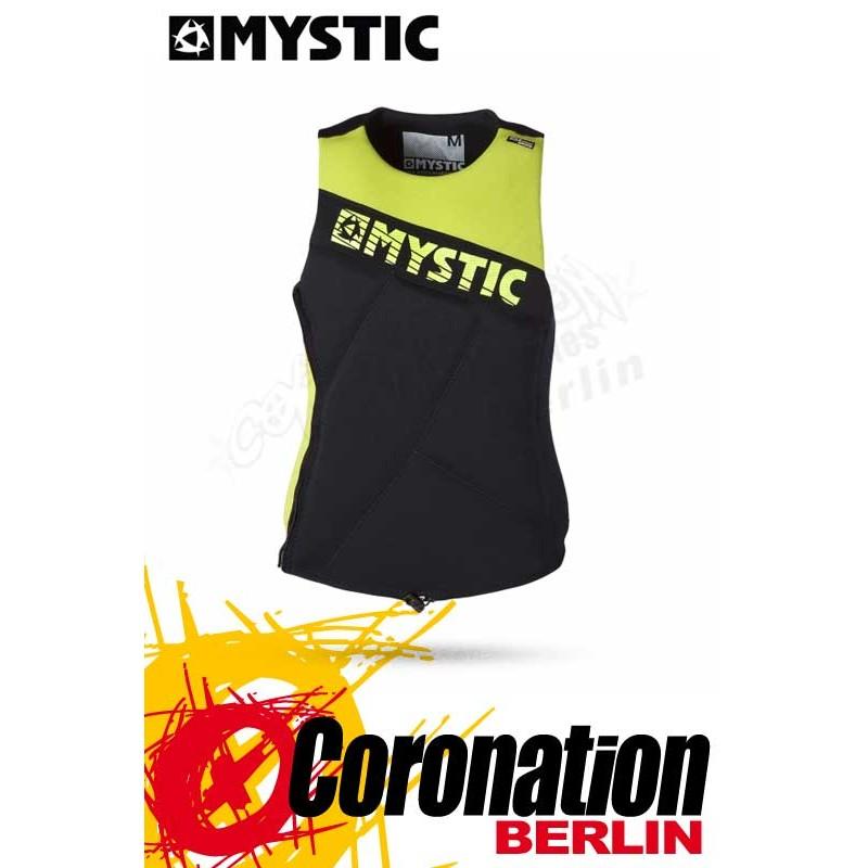 Mystic Star Wakeboard Vest Zip Lime Prallschutz Impact Weste