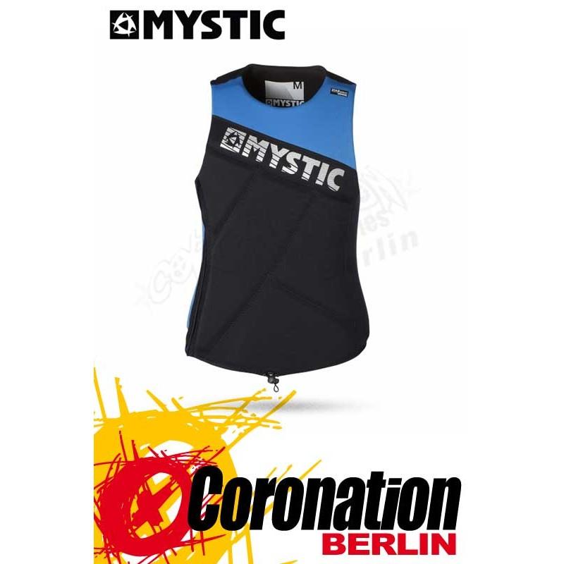 Mystic Star Wakeboard Vest Zip Blue Prallschutz Impact Weste