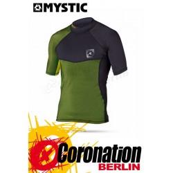 Mystic Crossfire Rash Vest S/S Green