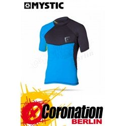 Mystic Crossfire Rash Vest S/S Blue