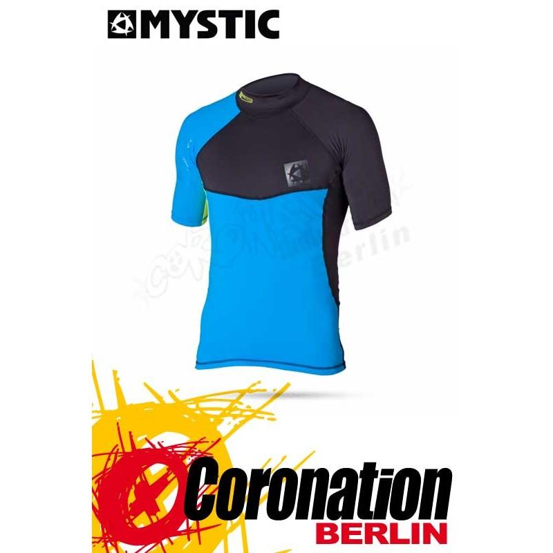 Mystic Crossfire Rash Vest S/S Blue Wetshirt