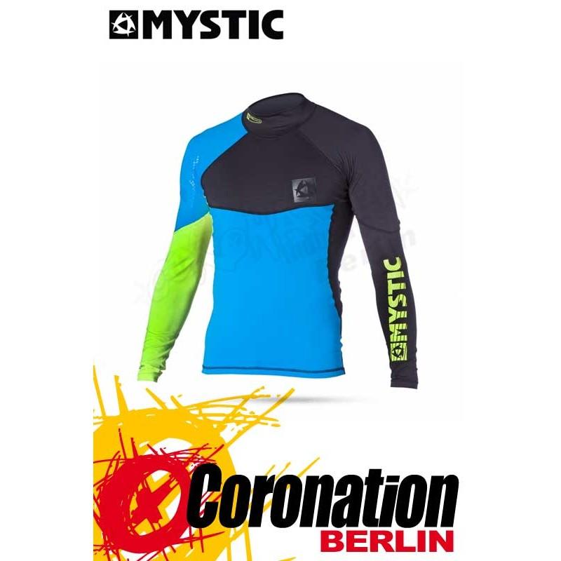 Mystic Crossfire Rash Vest L/S Blue