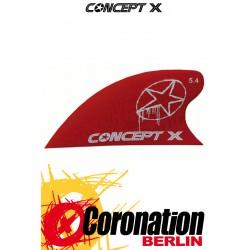 Concept-X CURVE 5,4cm Kite Fin red