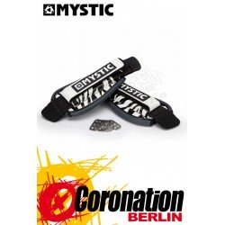 Mystic Kite Footstrap Adjustable Set Black/White