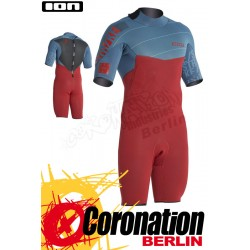 ION Strike Shorty SS 2,5 combinaison neoprène 2016 Petrol/Red