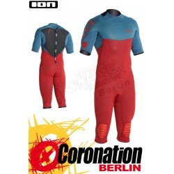 ION Strike Overknee SS 3/2 Neoprenanzug 2016 Petrol/Red