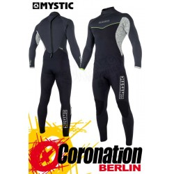 Mystic Drip Fullsuit back-zip 3/2 Neoprenanzug 2018 Black/Grey Wetsuit