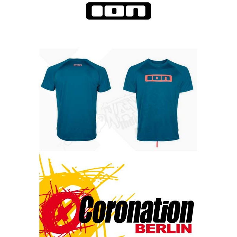 ION Wetshirt SS Logo moroccan blue Quickdry T-Shirt